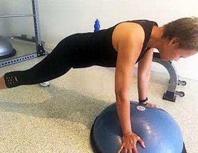 Bosu Ball Plank Example