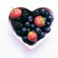 Healthy Heart -- heart shaped bowl of berries